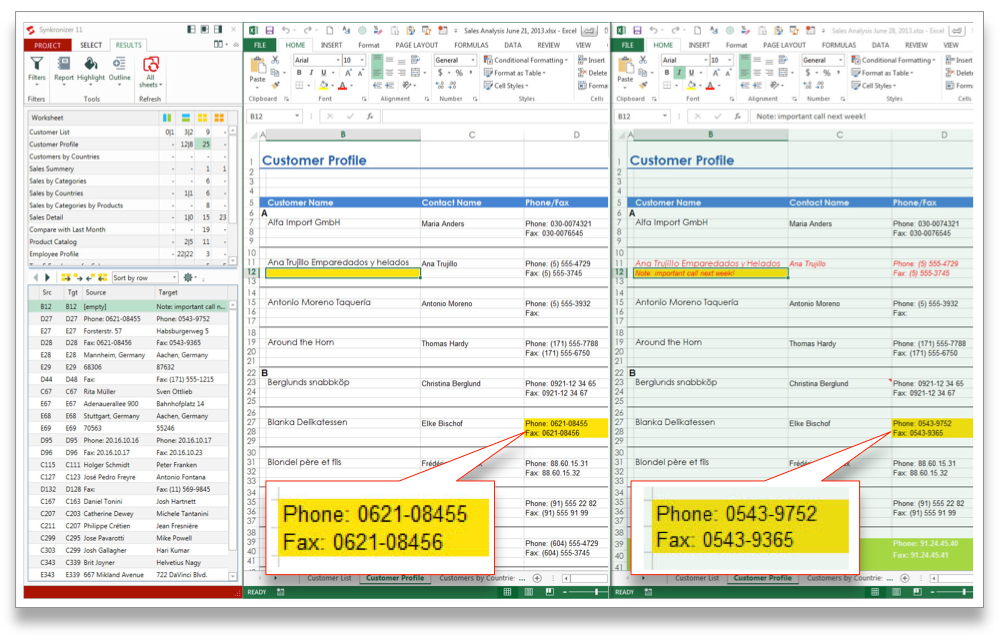 Compare Two Excel Files, Compare Two Excel Sheets for