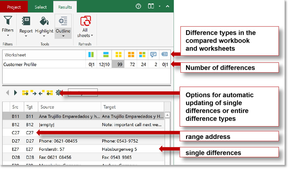 Synkronizer Excel Compare Compare update and merge Excel files – Excel Compare Worksheets
